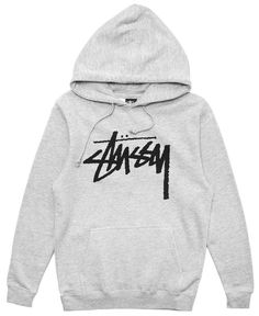 STUSSY - STOCK HOODIE (GREY HEATHER)