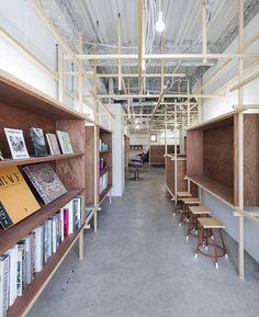 poten-poten installs a timberwork forest inside EighT hairdressers in japan