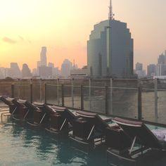 Pool area at the Millennium Hilton Bangkok Hotel, Thailand Hotel Thailand, Bangkok Hotel, Willis Tower, Family Travel, Building, Blog, Family Trips, Buildings, Blogging