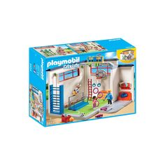 Playmobil Playmobil 9454 City Life Gym With Score Display in One Colour Play Mobile, Espalier, Digital Board, Painting Accessories, School Desks, Digital Clocks, School Building, Paper Plane, Fire Extinguisher
