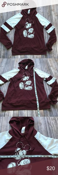 Disney Mickey Hooded Sweatshirt Size Large Excellent condition red and white hooded sweatshirt from Disney. Disney Tops Sweatshirts & Hoodies