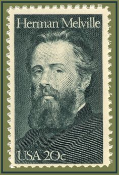 """Literature on Stamps: Herman Melville -Herman Melville's 1851 novel """"Moby-Dick"""" came in at number 18 on EW's list of 100 Greatest Books. Issued in his stamp featured a portrait of the author painted by J. Old Stamps, Vintage Stamps, Rare Stamps, International Literacy Day, Postage Stamp Art, Mail Art, Stamp Collecting, My Stamp, Belle Photo"""
