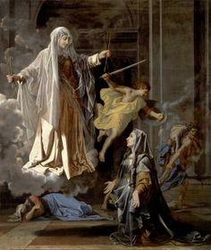 Nicolas Poussin - Santa Francesca Romana [c.1657] | Arash Noorazar Virtual Art Gallery  #17th #Classic #Nicolas #Poussin #Painting