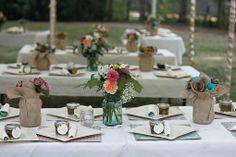 farm wedding table decorations ideas