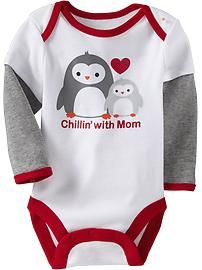 2-in-1 Graphic Bodysuits for Baby-  I love love love this penguin line (I think this is a must)