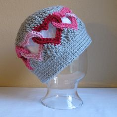 BE MINE Hat by Marken of the Hat & I ~ I love these intertwined hearts!  A hat with a message!  ♥