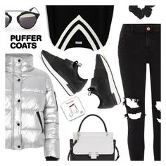 """""""Stay Warm: Puffer Coats"""" by dressedbyrose ❤ liked on Polyvore featuring River Island, Chicwish, Balenciaga, Lanvin, Christian Dior, Happy Plugs, StreetStyle, ootd, polyvoreeditorial and puffercoats"""