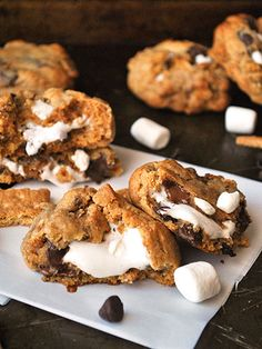 S'mores-stuffed cookies