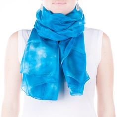 Fabulous turquoise silk scarf /  magnificent by CeliaEtcetera