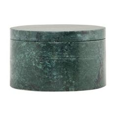 House Doctor Storage Marble Green Marble Dia 10 Cm H 6 Cm - Trouva House Doctor, Plastic Organizer Box, Wooden Organizer, Marble Box, Green Marble, Storage Boxes With Lids, Jar Storage, Sofa Design, Wooden Tables