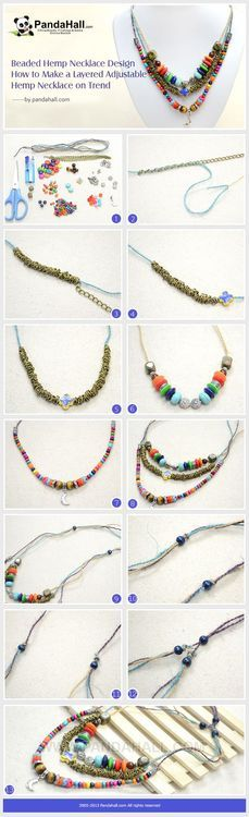 Jewelry Making Tutorial-How to Make a Layered Adjustable Hemp Necklace with Loose Beads | PandaHall Beads Jewelry Blog