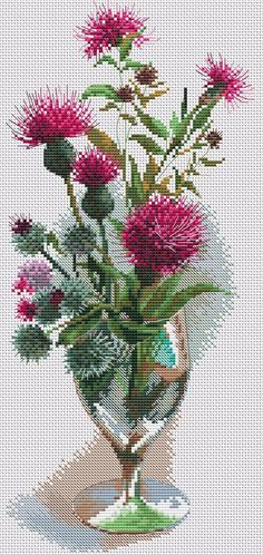 This Pin was discovered by Ayn Cross Stitch Bird, Cross Stitch Flowers, Cross Stitch Designs, Cross Stitching, Cross Stitch Embroidery, Hand Embroidery, Cross Stitch Patterns, Crochet Art, Patterns In Nature