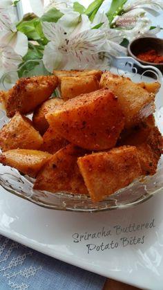Sriracha Buttered Potato Bites recipe great for entertaining #nomnom #ABRecipes