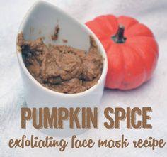 Pumpkin Spice Exfoliating Face Mask Recipe Pumpkin Spice Face Mask Recipe
