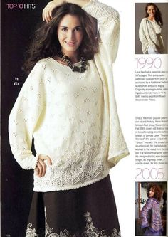 Белый пуловер из Vogue Knitting , Fall 2007