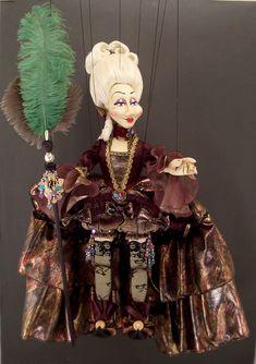 Large Venetian Carnival Magician Marionette