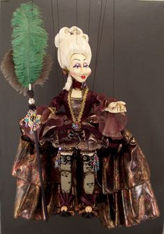 Large Venetian Carnival Magician Marionette
