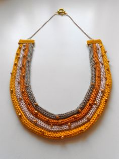Collana Senape effetto Tricot : Collane di imma-art-design