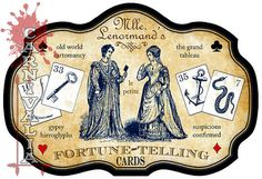 Mlle. Lenormand's le petit FortuneTelling Cards by ModernConjure, $29.95