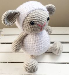 Cuddles the Sheep doll crochet sheep by GingerSnapMandie on Etsy