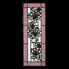 Edel Byrne Rose Border Floral Stained Glass Panel-1, Artistic Artisan Designer Window Panels
