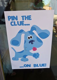 pin the clue on blue! Robbie would love this!