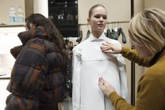 The final touches before the Fendi Fall '15 show