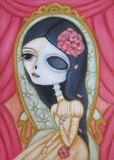 Tattered Rose  Fair Rosamund Art by Lauren Saxton