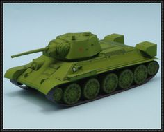WWII T-34/76 (1943) Tank Paper Model Free Template Download - http://www.papercraftsquare.com/wwii-t-3476-1943-tank-paper-model-free-template-download.html