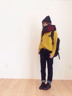 I have this mustard knitted top poco. Cute Fashion, Teen Fashion, Korean Fashion, Winter Fashion, Fashion Outfits, Womens Fashion, Pretty Outfits, Cool Outfits, Casual Outfits