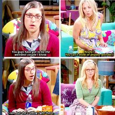 The Big Bang Theory - Weirdest Couple The Big Bang Theroy, Big Bang Theory Funny, Big Bang Theory Quotes, Best Tv Shows, Favorite Tv Shows, Movies Showing, Movies And Tv Shows, Tv Quotes, Nerd Quotes