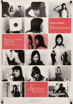 Film poster, Le Petit Soldat, 1961, directed by Jean-Luc Godard