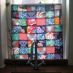 pretty patchwork curtain