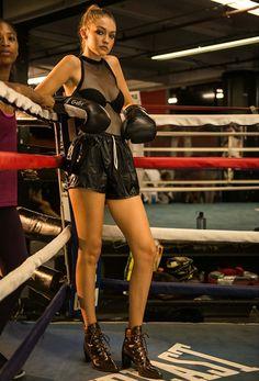 Gigi Hadid for Stuart Weitzman's #DoItRight campaign