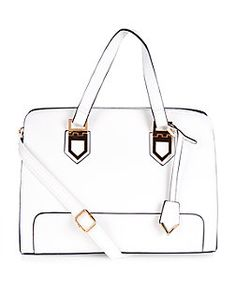 White Structured Tote Bag  | New Look