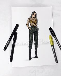 46 Ideas fashion ilustration sketches casual art for 2019 Fashion Art, Fashion Design Books, Fashion Design Portfolio, Fashion Design Drawings, Fashion Sketches, Trendy Fashion, Fashion Models, Fashion Illustrations, Design Illustrations