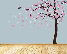 Play room decorating--- summer blossom tree wall stickers by parkins interiors | notonthehighstreet.com