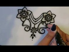 How To Make Henna Flowers Symmetrical! - YouTube