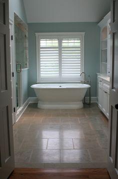 Small Modern Bathroom Designs 2016. Bathroom:White Bathtub Arched Faucet  White Window White Open Shelves White Rack Stone Floor Bathroom
