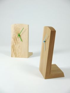 These mantle clocks are made in variety of different timbers and have a choice of coloured hands.