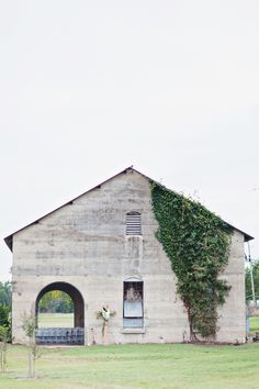 ceremony at Old Dobbin Station in Texas | Flora and Fauna #wedding