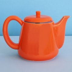 Each of these porcelain teapots by Memphis group designer George Sowden has a steel basket filter with over 160,000 tiny holes to improve the taste of tea