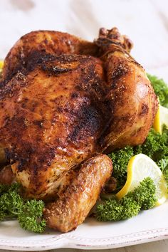 How to Make Rotisserie Style Chicken - The Suburban Soapbox - Super easy to make at home, Rotisserie Style Chicken recipe is the best you will ever have. Rotisserie Chicken Oven, Whole Chicken Recipes Oven, Whole Baked Chicken, Roast Chicken Recipes, Canned Chicken, Meat Recipes, Cooking Recipes, Roast Chicken On Bbq, Roasting Chicken In Oven