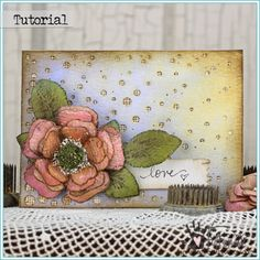 Grungy Watercolor Paper Flowers by Tammy Tutterow | www.tammytutterow.com