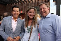 """Will Thomas, Mary Amons, Justin Binnix  """"Room to Rebloom"""" held its 2nd Annual Rebloom on the Roof cocktail fundraiser at The Graham Georgetown to celebrate the power of design to change lives for survivors of domestic violence."""