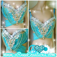 Turquoise and Gold and Glam Design Custom by cRaveCreationsPLUR