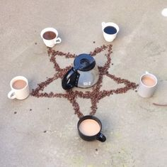 In the name of the coffee, the mocha, and the holy espresso, WE SUMMON THEE!