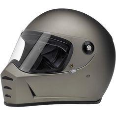 Biltwell Lane Splitter Solid Full-face Motorcycle Helmet - Flat Black / X-Small Full Face Motorcycle Helmets, Full Face Helmets, Motorcycle Style, Motorcycle Gear, Motorcycle Wiring, Motorbike Clothing, Enfield Motorcycle, Biker Gear, Moto Jeans