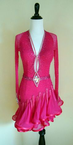 Pink Diamond — Dazzle Dance Dress Rentals   Renting quality ballroom dresses for competitions and showcase! #ballroomdancing #ballroomdresses