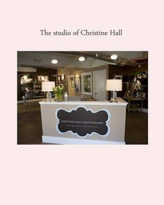 Reception Desk. Kinda like the chalkboard paint idea! You could add specials or inspirational sayings, invites to garden events, etc... LOVE